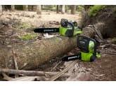 Пила цепная аккумуляторная G-MAX 40V GREENWORKS G40CS30K3, Цепь Oregon для электропилы 30 см в подарок!
