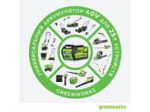 Компрессор G-MAX GREENWORKS G40AC + аккумулятор G40B3 + зарядное устройство G40C