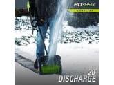 Снегоуборщик-лопата бесщеточный аккумуляторный 30 см 80V GREENWORKS G80SS30K2