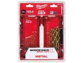 Набор сверл по металлу  Shockwave HSS-G Tin Red Hex (10шт)