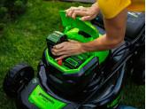 Газонокосилка аккумуляторная G-MAX 40V GREENWORKS GD40LM46SPK6X + Ножницы для травы Gardena Comfort 12100 в подарок!