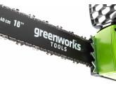 Пила цепная аккумуляторная G-MAX 40V GREENWORKS GD40CS40K2