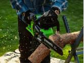 Пила цепная аккумуляторная G-MAX 40V GREENWORKS GD40CS15 с АКБ 4АЧ и ЗУ + цепь + масло для цепи в подарок!