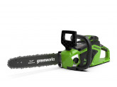 Пила цепная аккумуляторная G-MAX 40V GREENWORKS GD40CS15 с АКБ 6АЧ и ЗУ + цепь + масло в подарок!