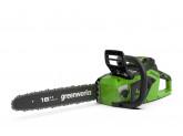 Пила цепная аккумуляторная G-MAX 40V GREENWORKS GD40CS18 с АКБ 2АЧ и ЗУ + масло в подарок!