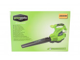 Воздуходув-пылесос садовый электрический GREENWORKS GBV2800