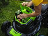 Газонокосилка аккумуляторная G-MAX 40V GREENWORKS GD40LM46SP + Ножницы для травы Gardena Classic в подарок!