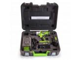 Дрель-шуруповерт аккумуляторная Greenworks G24DDK2, 24V, c 1хАКБ 2 А.ч и ЗУ в кейсе