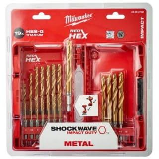 Набор сверл по металлу  Shockwave HSS-G Tin Red Hex (19 шт)