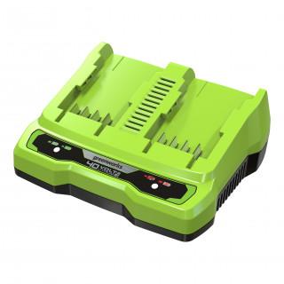 Быстрое зарядное устройство на 2 слота GREENWORKS G40UC8, 40V