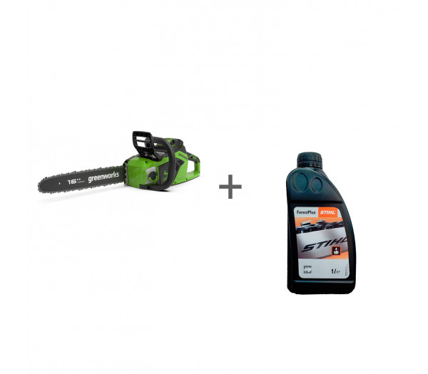 Пила цепная аккумуляторная G-MAX 40V GREENWORKS GD40CS18 + масло в подарок!
