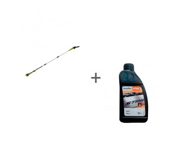 Высоторез-сучкорез аккумуляторный G-MAX 40V GREENWORKS G40PSF + масло в подарок!