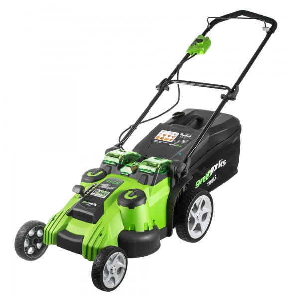 Газонокосилка G-MAX 40V GREENWORKS Twin Force G40LM49DB У12