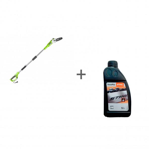 Высоторез-сучкорез электрический 720W GREENWORKS GPS7220 + Масло для цепи ForestPlus, 1 л в подарок!