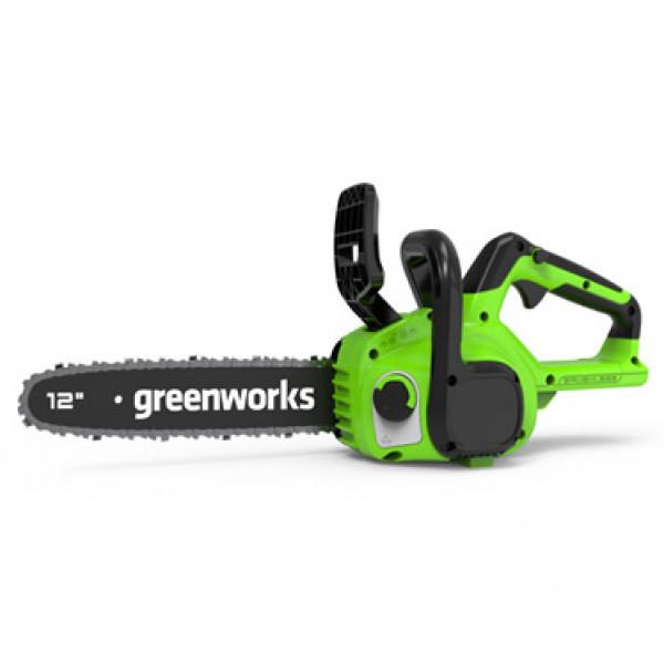 Пила цепная аккумуляторная 24V GREENWORKS GD24CS30 с АКБ 2 АЧ и ЗУ