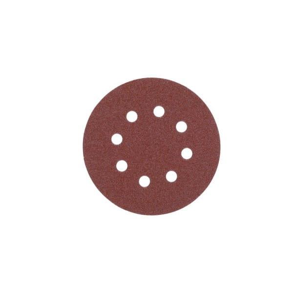 Шлифовальный круг  8 отверстий 125 мм/ зерно 120 (5шт)