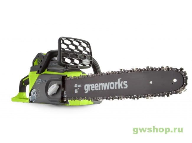 Пила цепная аккумуляторная G-MAX 40V GREENWORKS GD40CS40