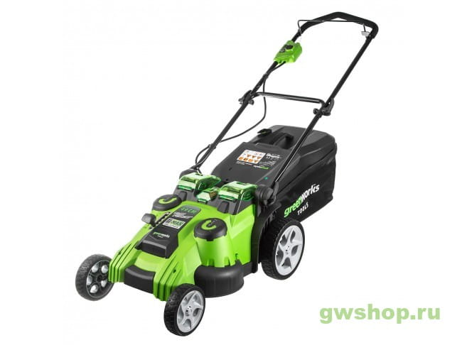Газонокосилка G-MAX 40V GREENWORKS Twin Force G40LM49DB