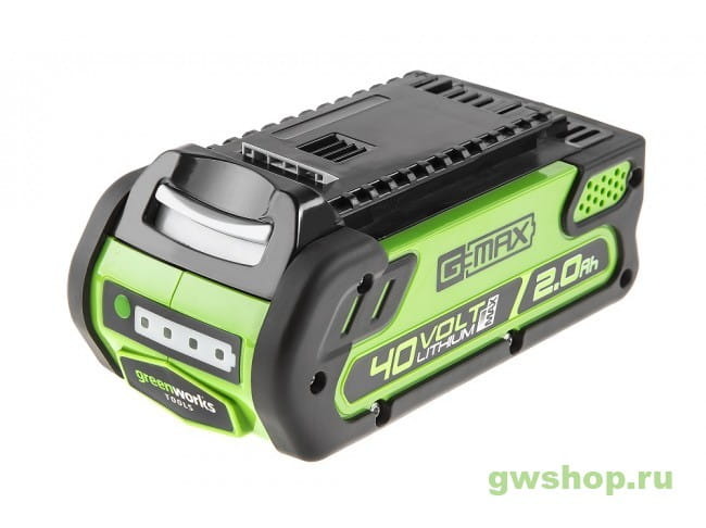 G-MAX 40V Литий-Ионный Аккумулятор 2 А.ч GREENWORK G40B2, арт 29 29717 в фирменном магазине GreenWorks