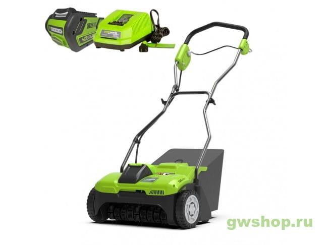 G40DT30 40V с 6 А/ч АКБ и ЗУ 2504807UF в фирменном магазине GreenWorks
