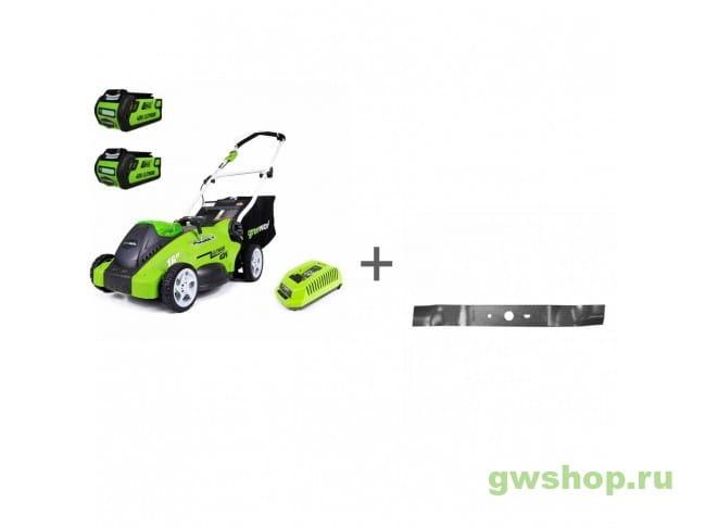 G40LM41K2-2X, 29487 2500007VC, 29487 в фирменном магазине GreenWorks