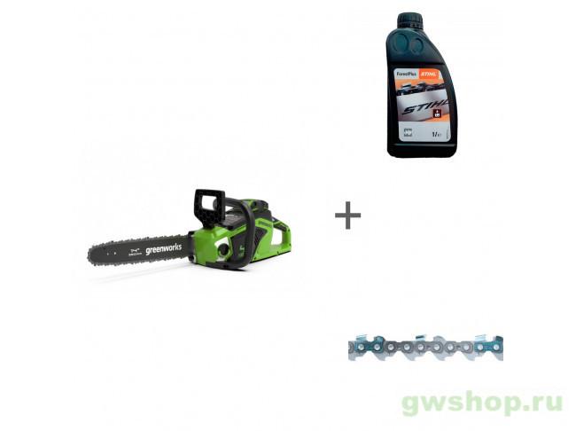 GD40CS15 с АКБ 4АЧ и ЗУ, ForestPlus, 1 л, Picco Micro Mini Comfo 2005707UB, 07815166001, 36100060052 в фирменном магазине GreenWorks