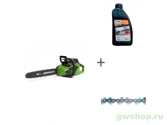 GD40CS18 с АКБ 4АЧ и ЗУ, ForestPlus, 1 л, 61PMMC3 2005807UB, 07815166001, 36100060056 в фирменном магазине GreenWorks