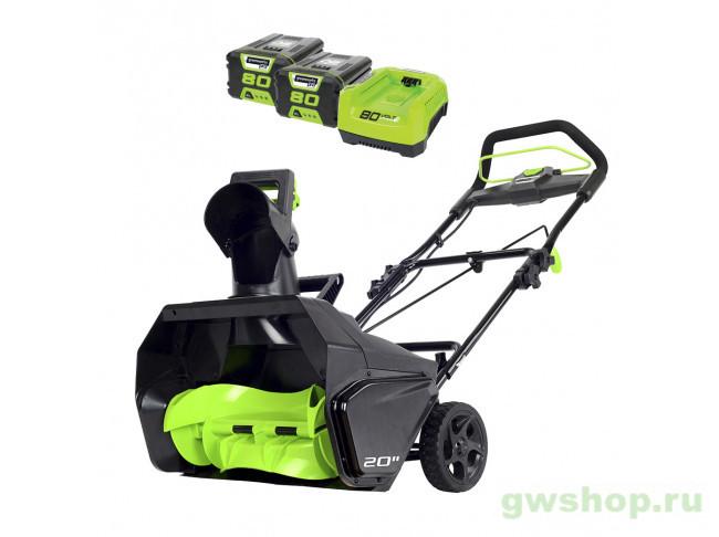 GD80SB DigiPro с 2 АКБ 2 А/ч и ЗУ 2600107UC в фирменном магазине GreenWorks