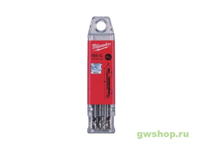 Сверло по металлу двухстороннее HSS-G DIN1412 6 x 66 мм (10шт) 4932352234 в фирменном магазине