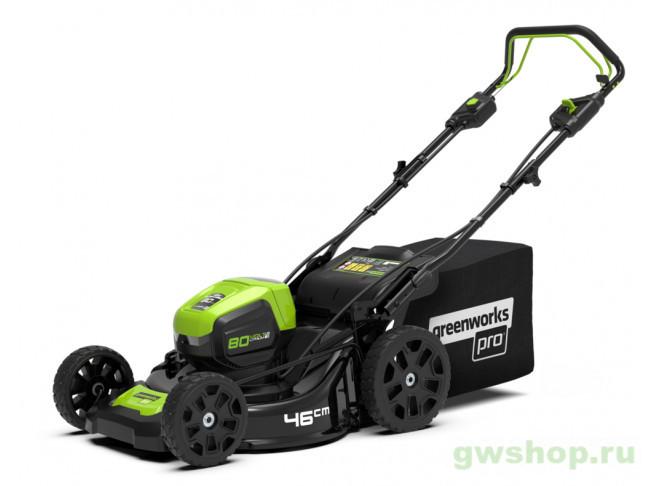 80V Pro с 4 А/ч АКБ и ЗУ 2500907UB в фирменном магазине GreenWorks
