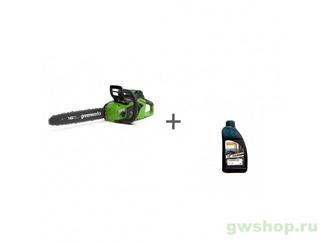 GD40CS18 с АКБ 2АЧ и ЗУ, Timber Plus 1 л 2005807UA, 70285160000 в фирменном магазине GreenWorks