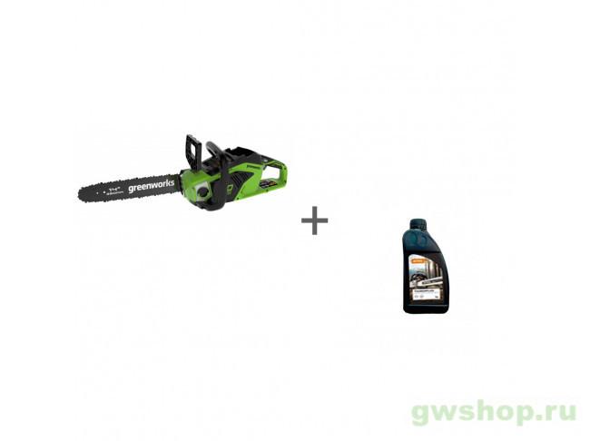 GD40CS15 с АКБ 2АЧ и ЗУ, Timber Plus 1 л 2005707UA, 70285160000 в фирменном магазине GreenWorks