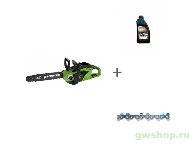 GD40CS15 с АКБ 4АЧ и ЗУ, Timber Plus 1 л, Picco Micro Mini Comfo 2005707UB, 70285160000, 36100060052 в фирменном магазине GreenWorks