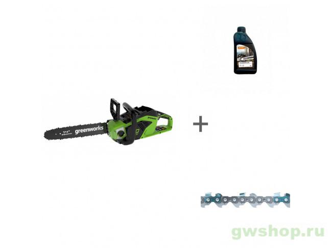 GD40CS15 с АКБ 6АЧ и ЗУ, Timber Plus 1 л, Picco Micro Mini Comfo 2005707UF, 70285160000, 36100060052 в фирменном магазине GreenWorks