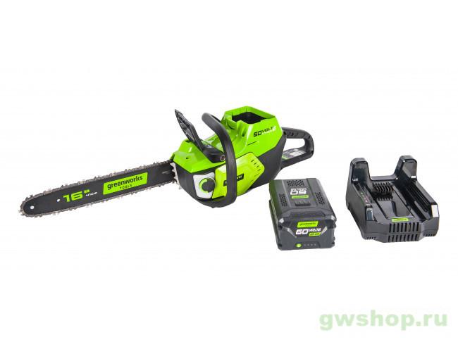 GD60CS40 60V (40 см) с АКБ и ЗУ 2001807UA в фирменном магазине GreenWorks