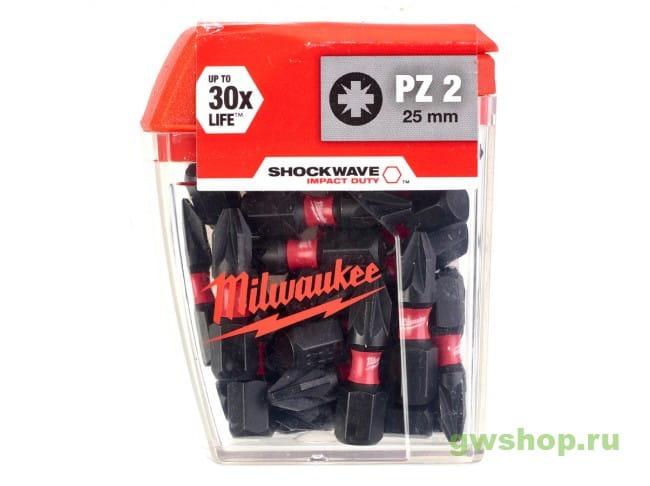 Shockwave PZ2 x 25 мм (25шт) 4932430864 в фирменном магазине Milwaukee